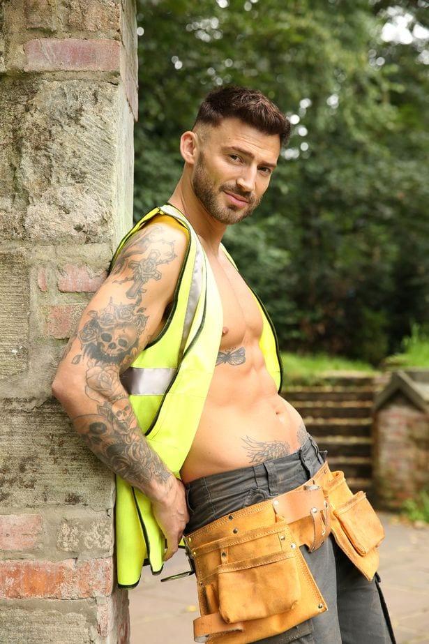 Jake Quickenden dressed as builder, Woody